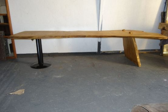 oak crotch board table Feature Image