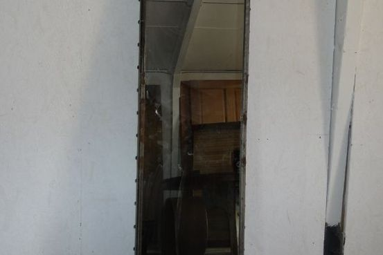 galvanized and riveted mirror Feature Image