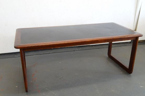 1970's Rosewood Colour Office Table. Feature Image