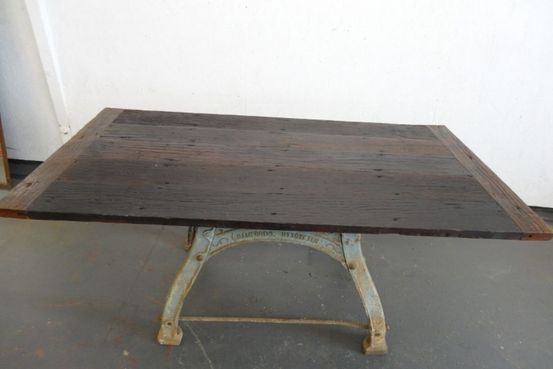 Reclaimed Iron Base Table Feature Image
