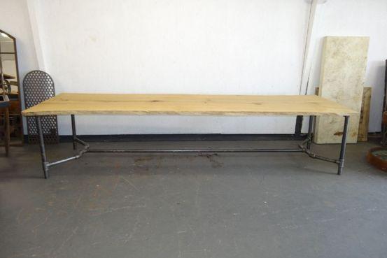 Oak Plank over black Iron base Feature Image