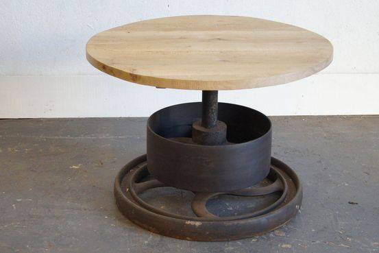 Worn Oak Top on Victorian Iron Wheel Feature Image