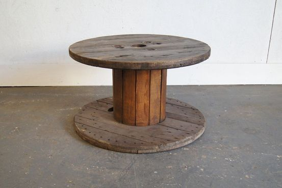 Pine Cable Reel Table Feature Image