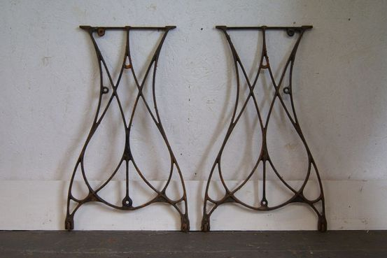 Pair of Cast Iron Table Bases Feature Image