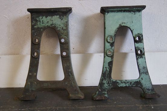 Pair of Low Cast Iron Bases Feature Image