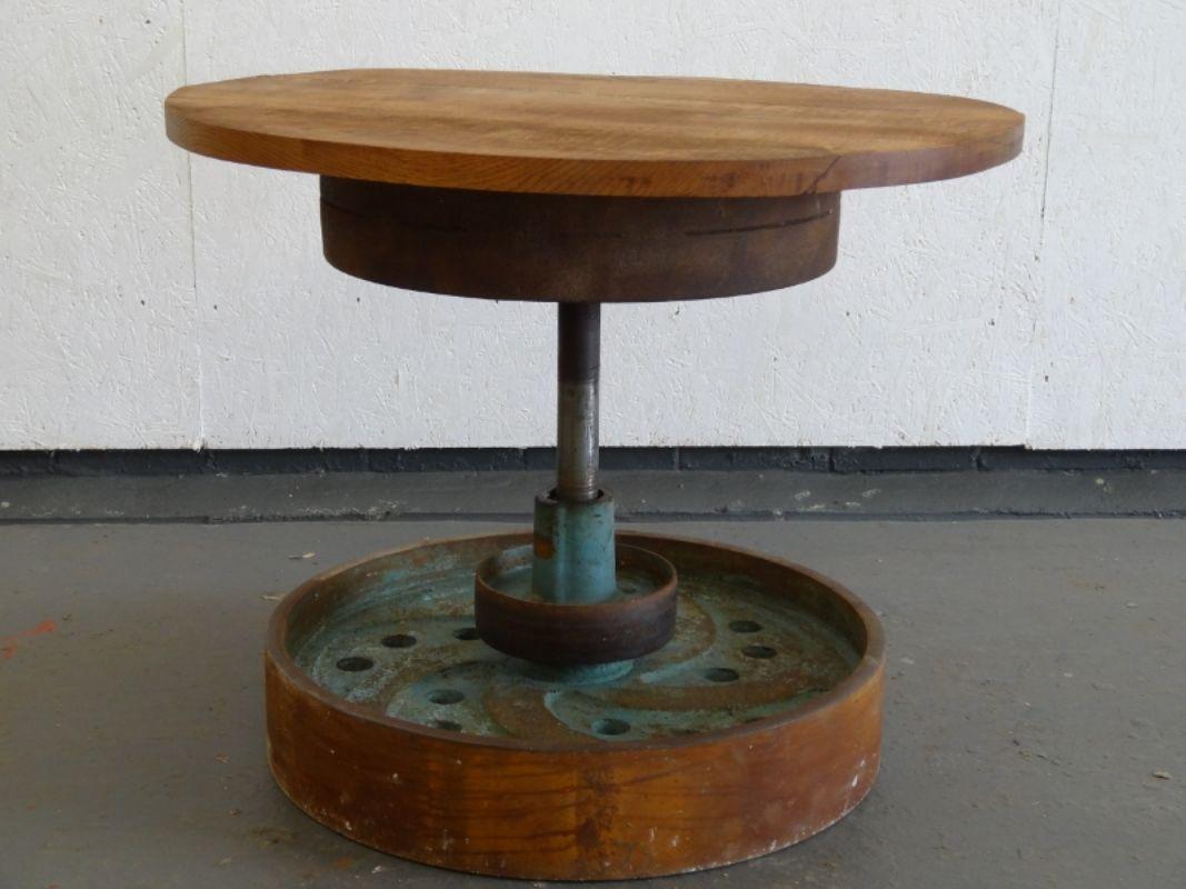 Iron Wheel Coffee Table Man Of Art